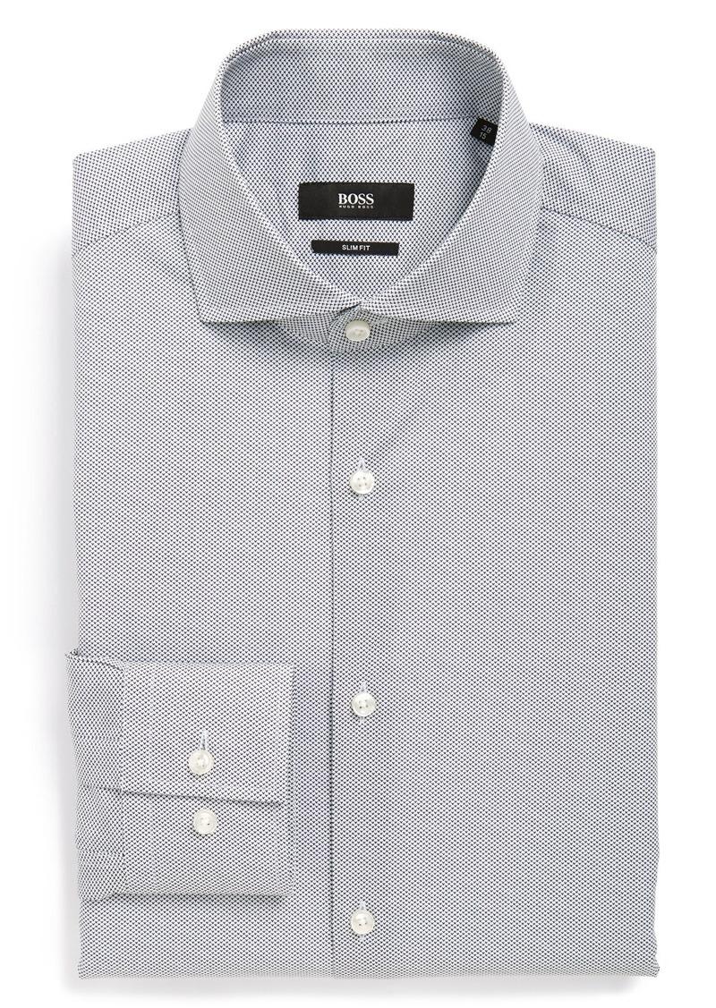 Hugo boss boss 39 jason 39 ww slim fit print dress shirt for Hugo boss jason shirt