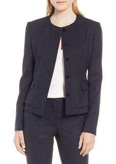 Hugo Boss BOSS Jasyma Tonal Stripe Stretch Wool Suit Jacket