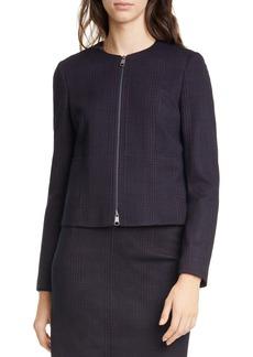 Hugo Boss BOSS Javidar Textured Plaid Short Jacket