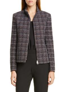 Hugo Boss BOSS Jelinta Cotton Blend Tweed Jacket