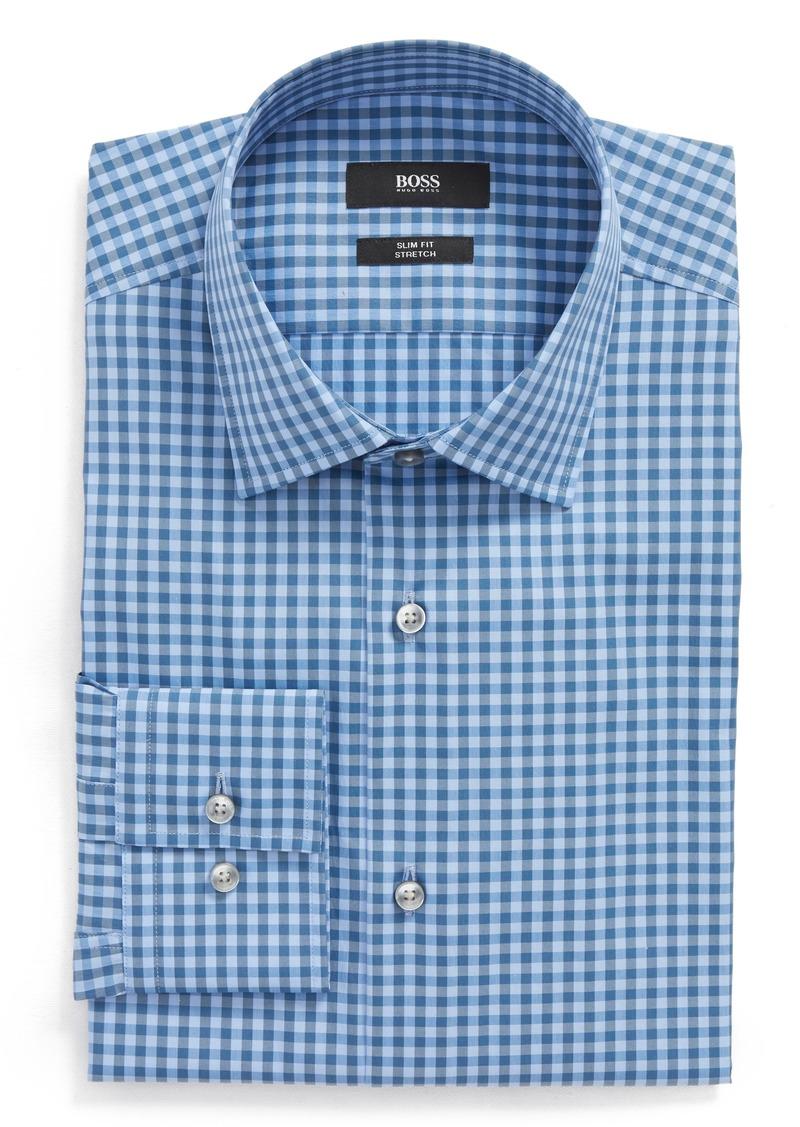 0f3b289b8b4 Hugo Boss BOSS Jenno Slim Fit Check Stretch Dress Shirt