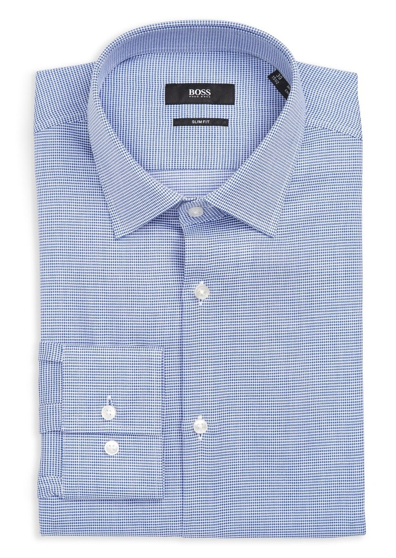 Hugo Boss BOSS Jenno Slim Fit Dot Dress Shirt