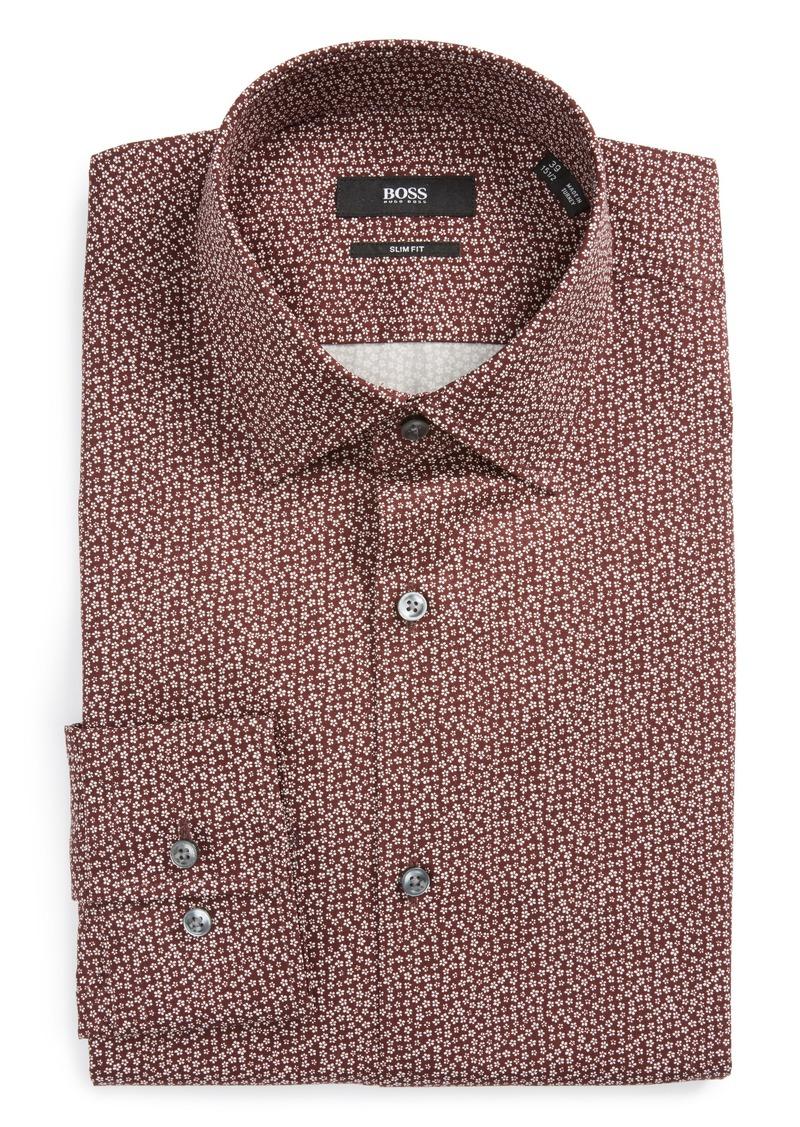 Hugo boss boss jenno slim fit print dress shirt dress for Hugo boss dress shirts