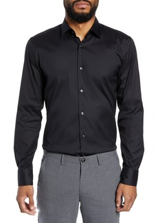 Hugo Boss BOSS Jenno Slim Fit Stretch Solid Dress Shirt