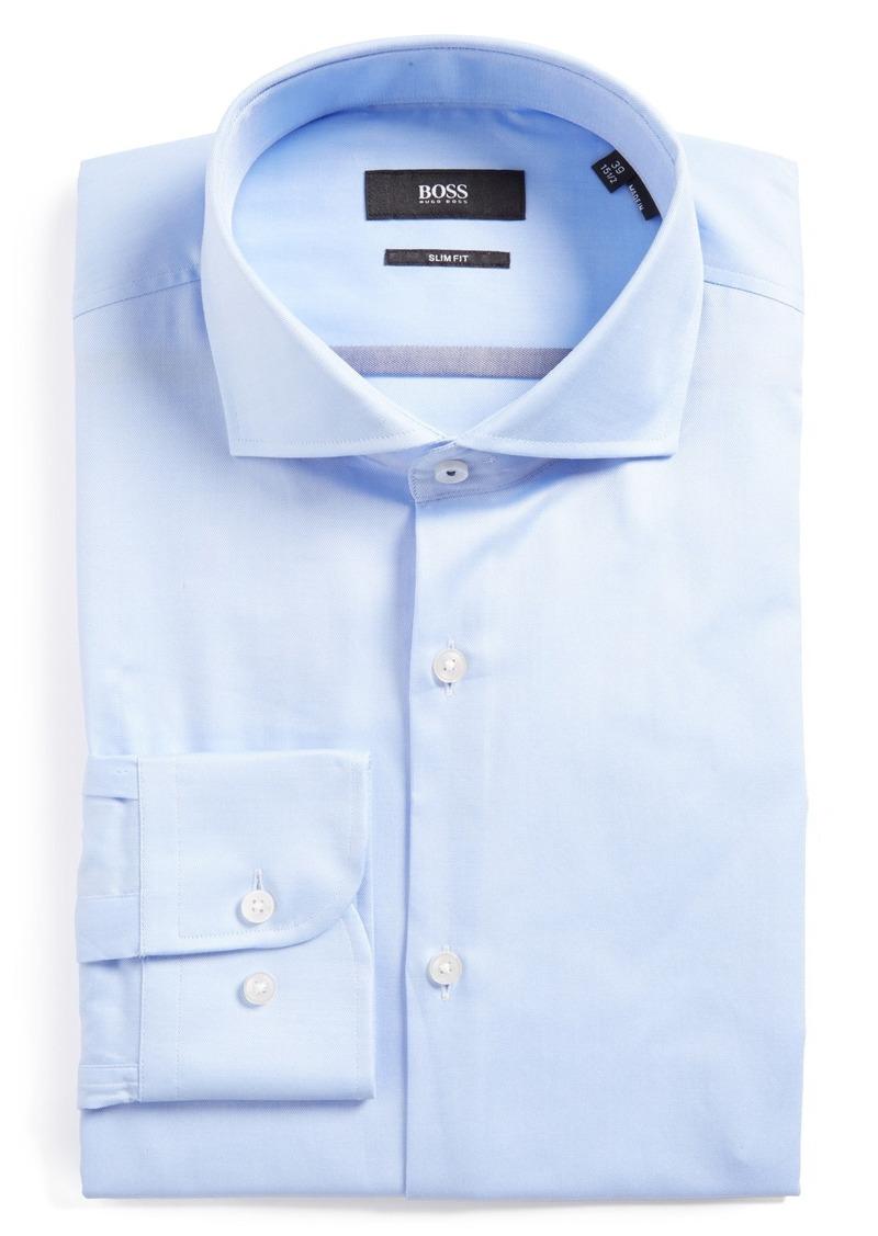 Hugo boss boss jerrin slim fit solid dress shirt dress for Hugo boss dress shirts