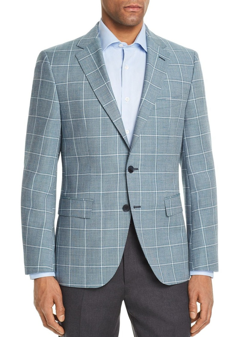 c26f99356 BOSS Jewels Regular Fit Tonal Basket Weave Windowpane Sport Coat. Hugo Boss