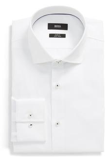 Hugo Boss BOSS Jim Slim Fit Easy Iron Solid Dress Shirt