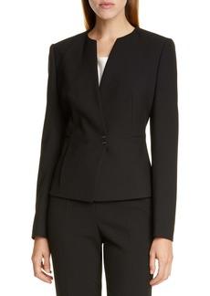 Hugo Boss BOSS Jisula Collarless Ponte Suit Jacket (Regular & Petite)