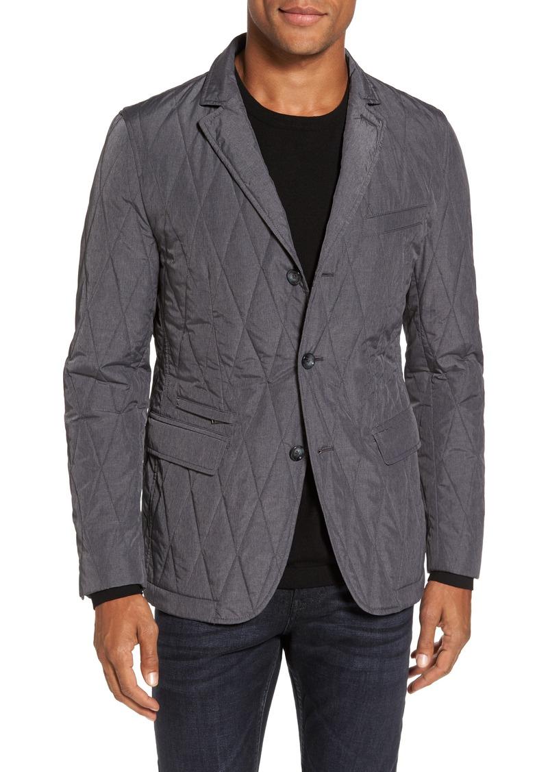 hugo boss boss jord water repellent quilted sport coat suits. Black Bedroom Furniture Sets. Home Design Ideas