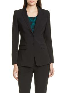 Hugo Boss BOSS Juicylara Tropical Stretch Wool Suit Jacket