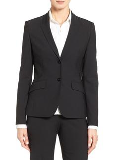 Hugo Boss BOSS Julea Tropical Stretch Wool Jacket (Regular & Petite)