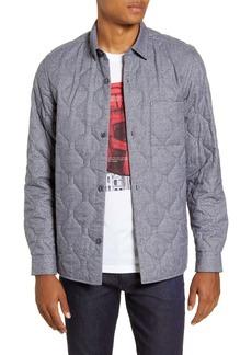 Hugo Boss BOSS Landolfo Regular Fit Quilted Flannel Shirt Jacket