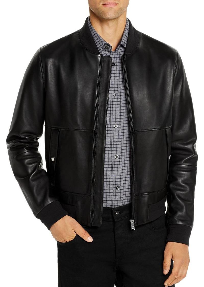 Hugo Boss BOSS Leather Bomber Jacket