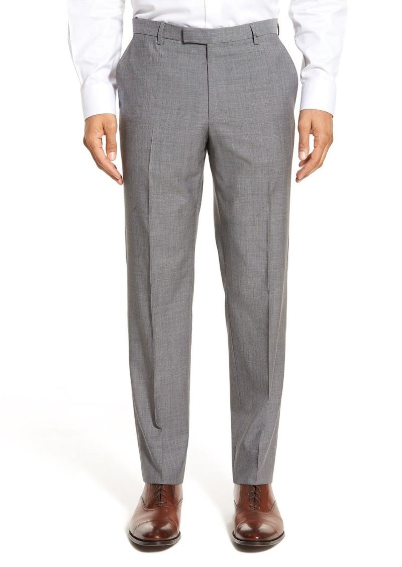 Hugo Boss BOSS 'Leenon' Flat Front Houndstooth Wool Trousers