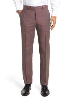 Hugo Boss BOSS Leenon Flat Front Regular Fit Check Wool Trousers