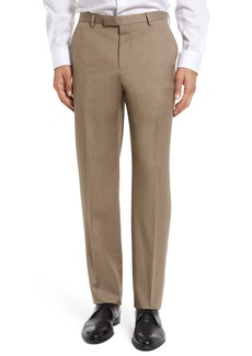 Hugo Boss BOSS Leenon Flat Front Regular Fit Solid Wool Trousers