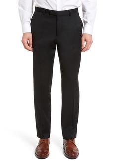 Hugo Boss BOSS Leenon Flat Front Regular Fit Solid Wool Trousers