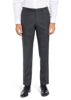 Hugo Boss BOSS Leenon Flat Front Solid Wool Trousers