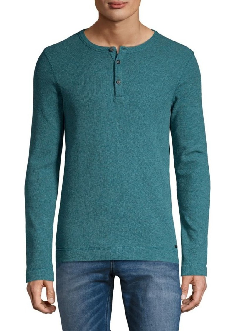 Hugo Boss BOSS Long-Sleeve Cotton Henley