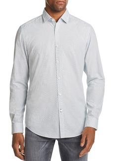 Hugo Boss BOSS Lucky Micro-Floral-Print Regular Fit Shirt
