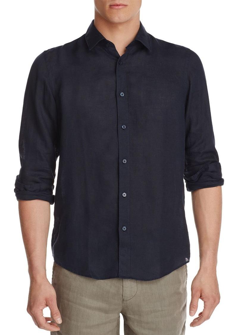 88fee362 Hugo Boss BOSS Lukas Linen Regular Fit Button-Down Shirt