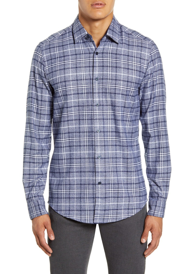 Hugo Boss BOSS Lukas Regular Fit Plaid Button-Up Shirt