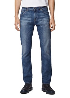 Hugo Boss BOSS Maine Straight Fit Jeans in Bright Blue