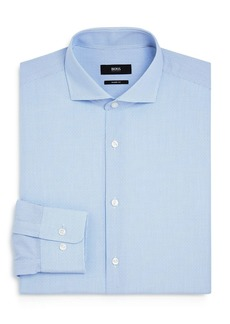 Hugo Boss BOSS Mark Dotted-Grid Regular-Fit Dress Shirt