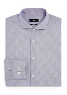 Hugo Boss BOSS Mark Dotted-Grid Sharp-Fit Dress Shirt