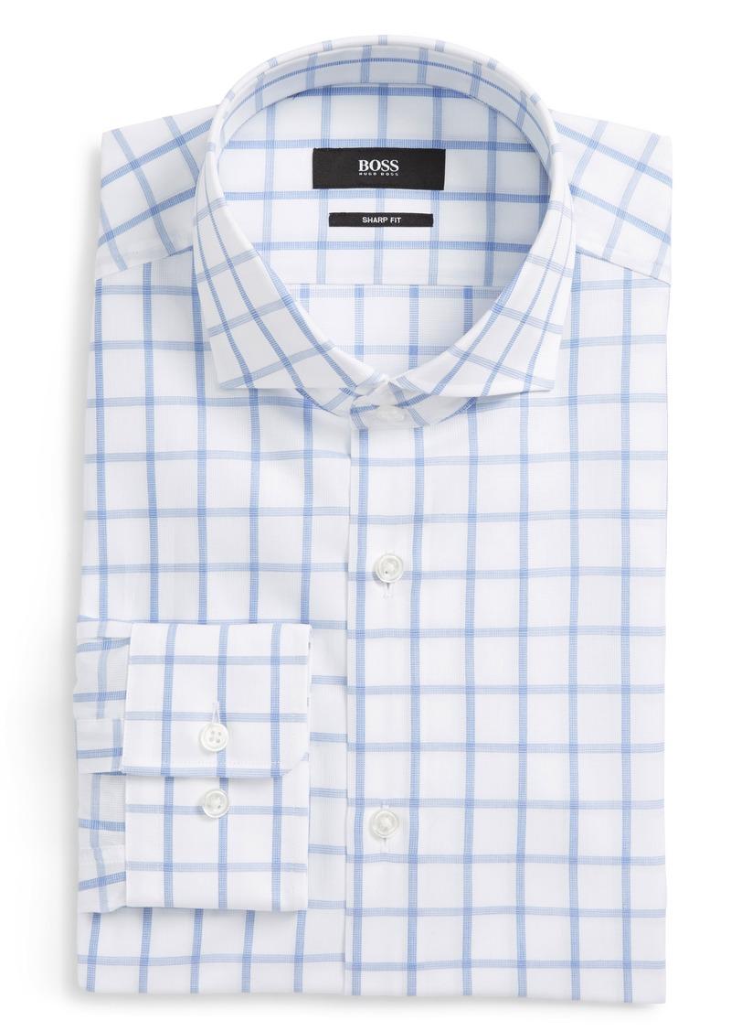 aa45380d4 Hugo Boss BOSS Mark Sharp Fit Grid Dress Shirt | Dress Shirts
