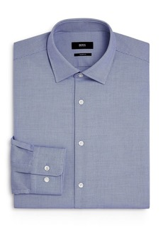 Hugo Boss BOSS Marley Cotton Mini-Grid Regular Fit Dress Shirt
