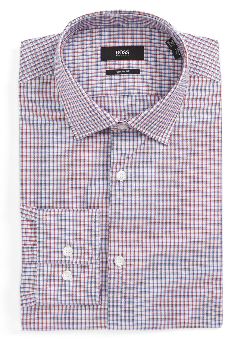 4ff2374f Hugo Boss BOSS Marley Sharp Fit Check Dress Shirt Now $77.49