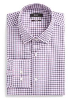 Hugo Boss BOSS Marley Sharp Fit Plaid Dress Shirt