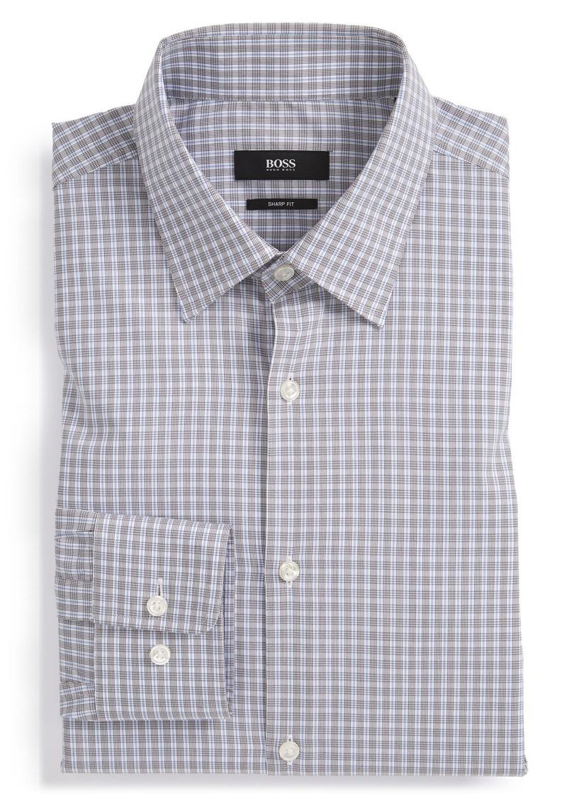 Hugo boss boss 39 marlow 39 sharp fit plaid dress shirt for Hugo boss dress shirts