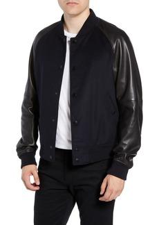Hugo Boss BOSS Mavcon Wool & Leather Regular Fit Jacket