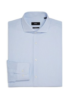 Hugo Boss BOSS Men's Mark US Cotton Micro Dot Slim Fit Dress Shirt