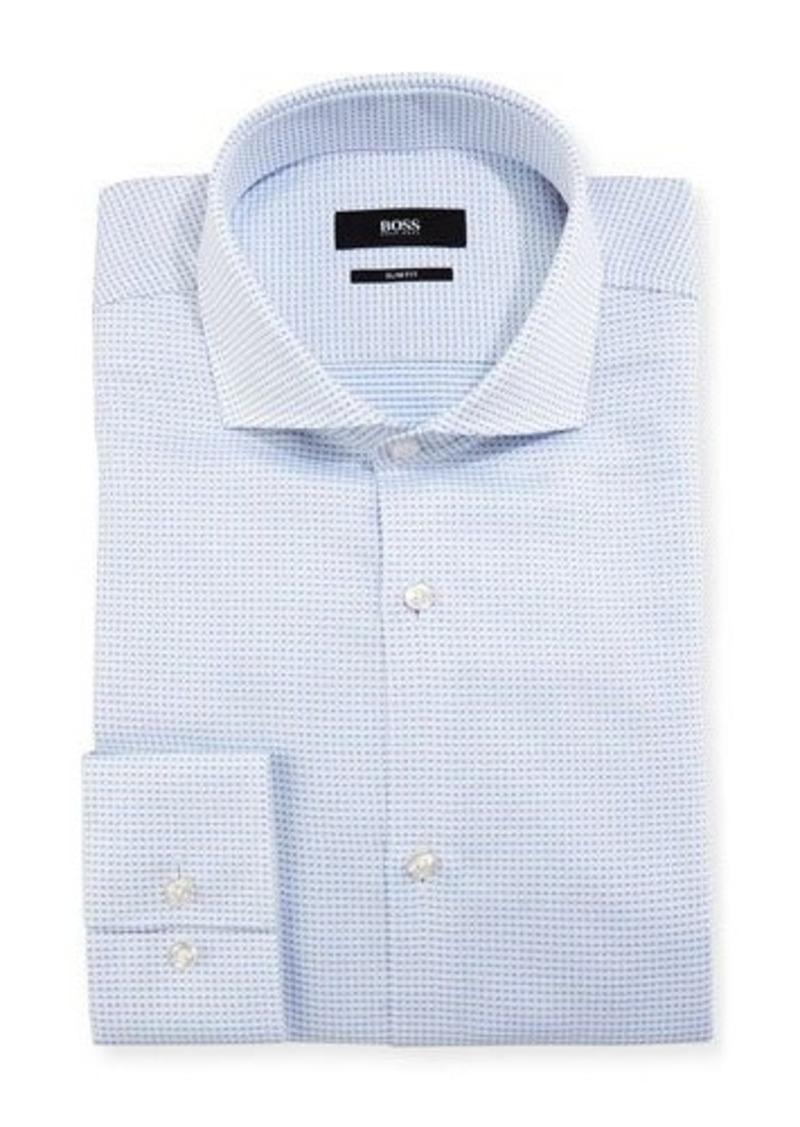 Hugo boss boss micro check slim fit dress shirt for Hugo boss formal shirts
