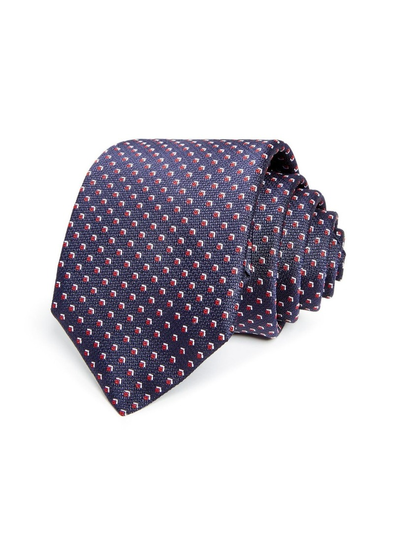 Hugo Boss BOSS Micro Florette Neat Silk Skinny Tie