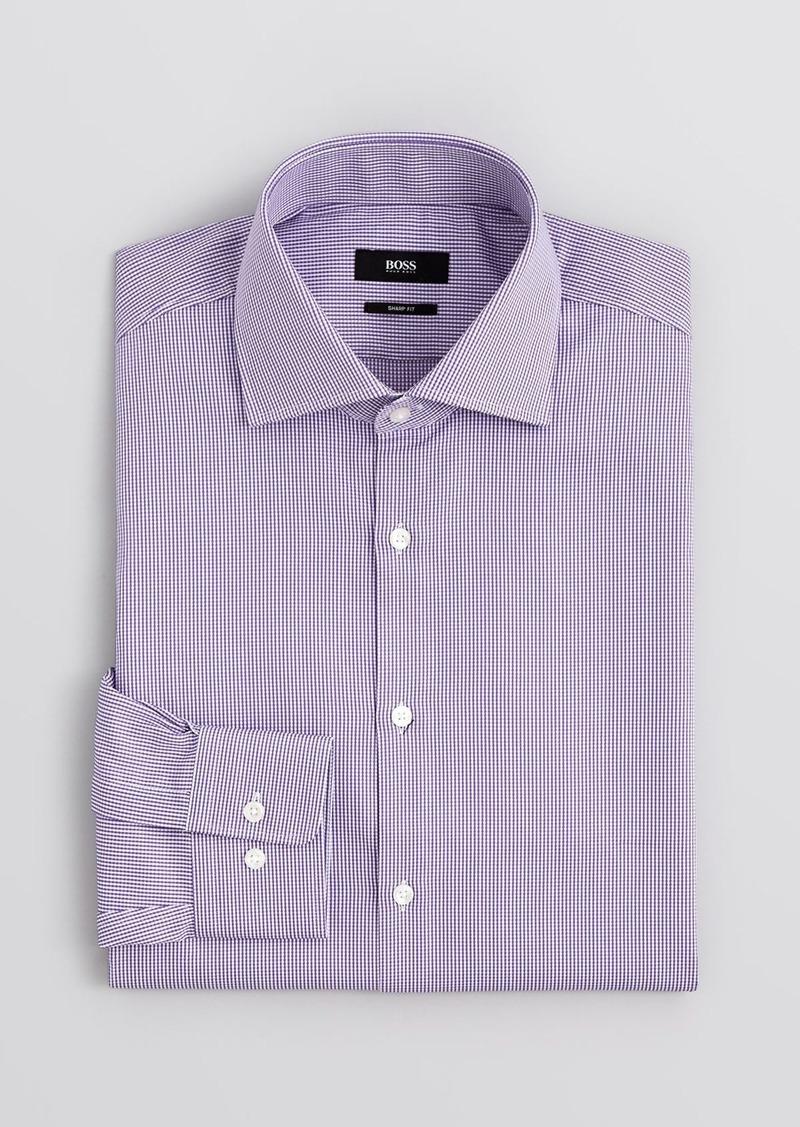 Hugo boss boss miles micro pattern sharp fit regular fit for Regular fit dress shirt