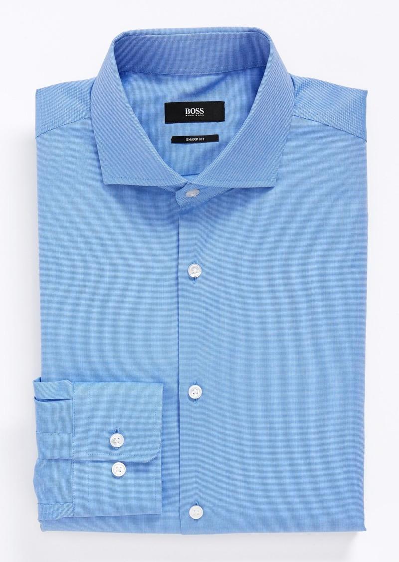 Hugo boss boss 39 miles 39 sharp fit solid dress shirt dress for Hugo boss dress shirts