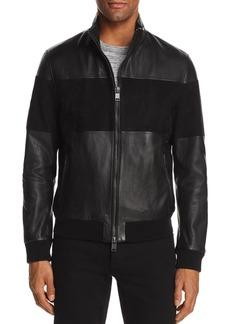 Hugo Boss BOSS Miloy Leather and Suede Moto Jacket