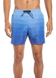Hugo Boss BOSS Monkfish Regular Fit Ombré Stripe Swim Shorts