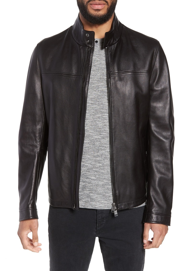 hugo boss nappa leather jacket