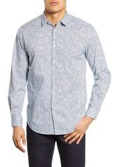 Hugo Boss BOSS Noah Relaxed Fit Leaf Print Button-Up Shirt