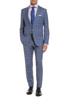 Hugo Boss BOSS Novan/Ben 10 Trim Fit Plaid Wool Suit