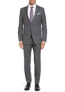 Hugo Boss BOSS Novan/Ben 5 Trim Fit Windowpane Wool Suit