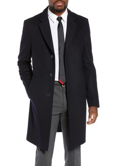 Hugo Boss BOSS Nye Regular Fit Solid Wool & Cashmere Topcoat