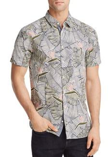 Hugo Boss BOSS Orange Cattitude Palm Leaf Woven Slim Fit Shirt