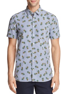 Hugo Boss BOSS Orange Cattitude Pineapple Print Short Sleeve Button-Down Shirt