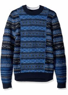 2f4c654698a818 Hugo Boss BOSS Orange Men's Akarquard Wool Mohair Mix Sweater with Fairisle  Structure XXL